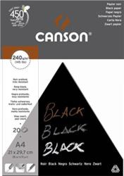 Canson Black 240gsm Acid Free Pad Choose Your Size By One