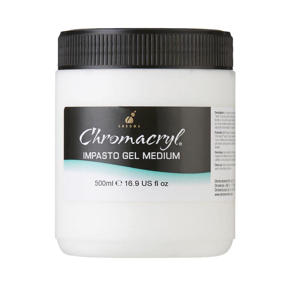 Chroma chromacryl impasto gel medium 500ml for Chroma acrylic mural paint review