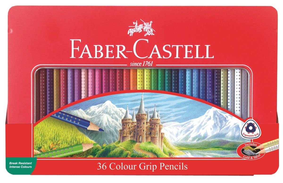 Faber Castell Colour Grip Pencils Set Of 36