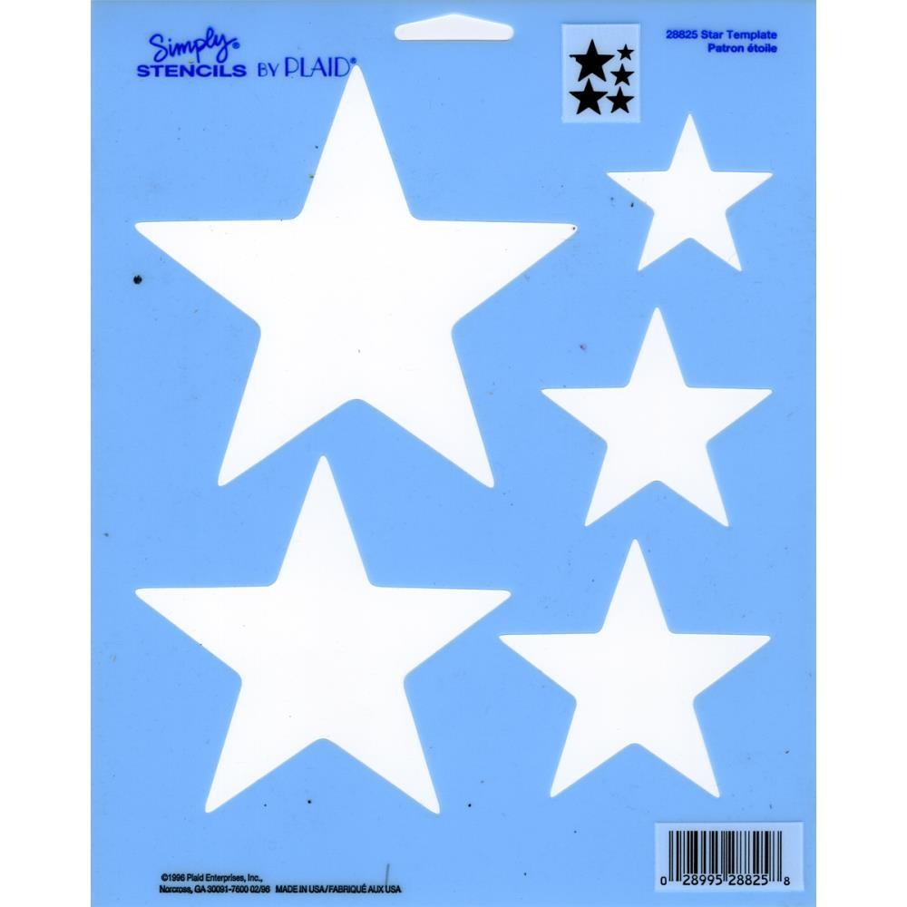 simply stencil 8x10 star template