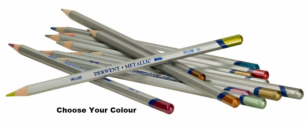 Derwent Choose Your Colour By One. Metallic Pencils Singles