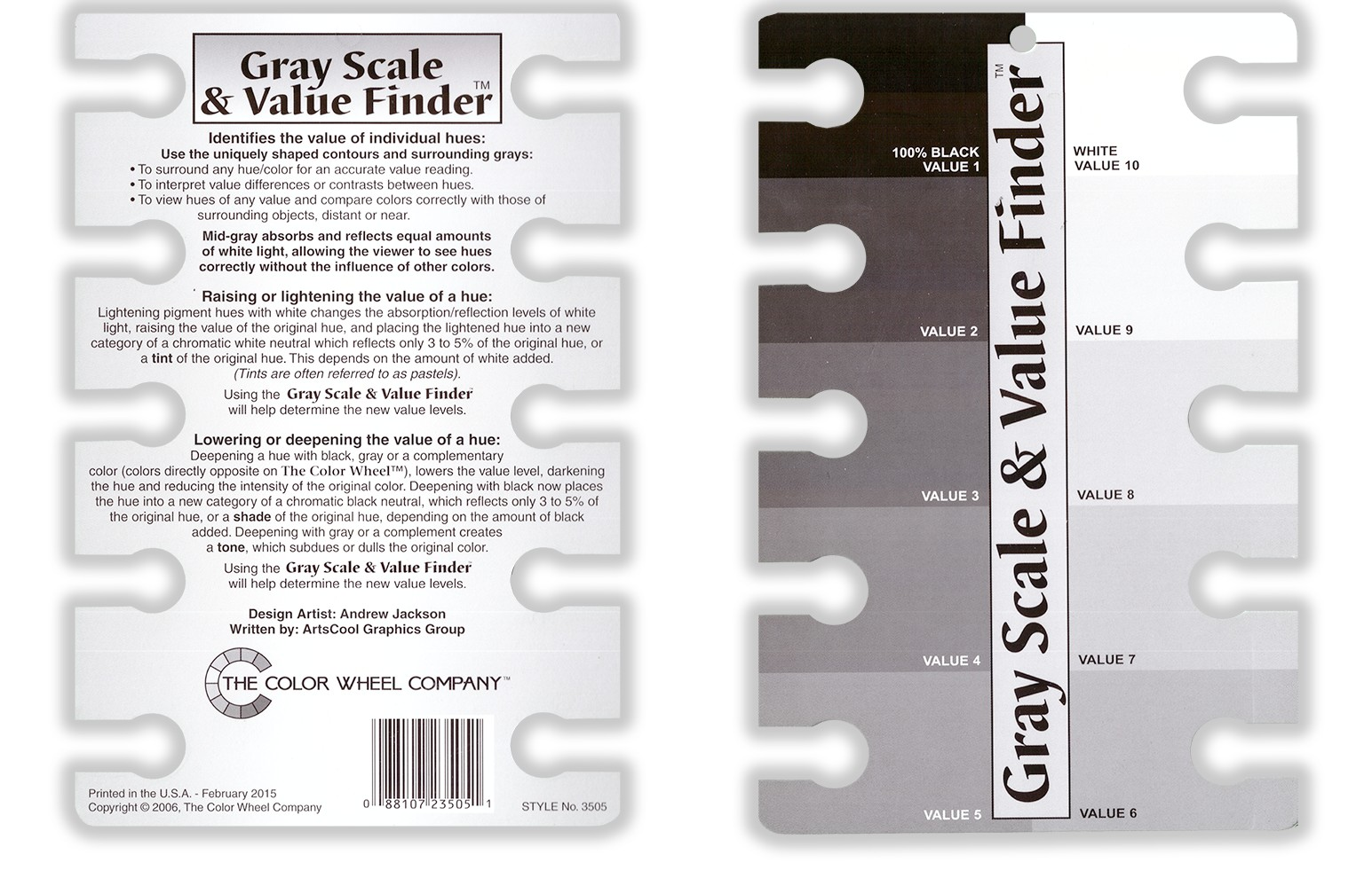 Gray Scale And Value Finder 88107235051 Ebay