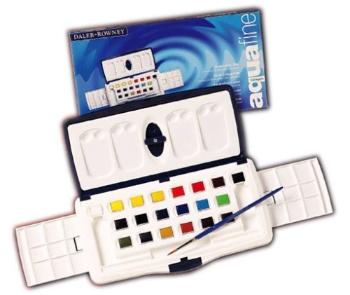Watercolor Paint Set Aqua Fine SlIDer 20 Color Set Q - 026 (japan Import)