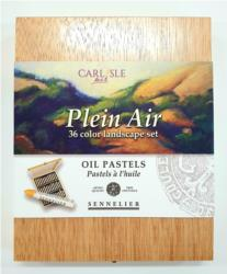 Sennelier Plein Air Oil Pastels Wooden Box Set Of 36